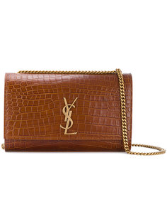 сумка-сэтчел с эффектом крокодиловой кожи Kate Saint Laurent