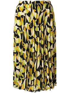 плиссированная юбка с принтом  Nº21