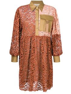 """платье-рубашка дизайна """"пэчворк"""" Erika Cavallini"""