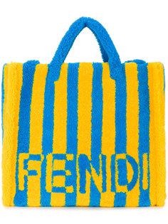 сумка-тоут в полоску Fendi