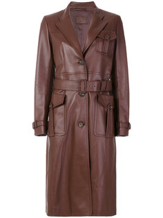 строгое байкерское пальто  Prada