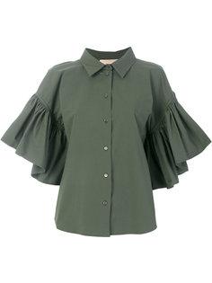 рубашка с рукавами с оборками Erika Cavallini