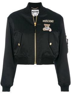 укороченная куртка-бомбер Teddy Bear Moschino