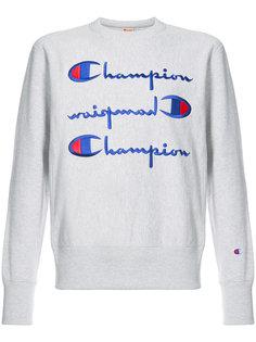толстовка с принтом логотипа Champion