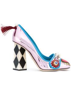 декорированные туфли-лодочки с кристаллами Jackie Dolce & Gabbana