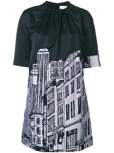 платье с принтом  Victoria Victoria Beckham