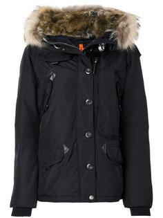 пальто с капюшоном и искусственным мехом  Parajumpers