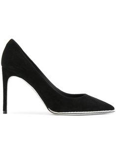 туфли с перламутровыми бусинами René Caovilla