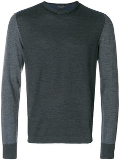 свитер дизайна колор-блок Emporio Armani