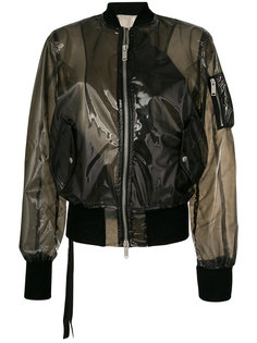 прозрачная куртка-бомбер  Unravel Project