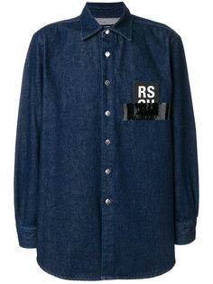 джинсовая рубашка с логотипом Raf Simons