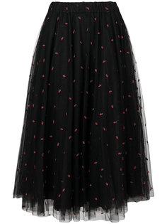 пышная юбка с вышивкой  P.A.R.O.S.H.