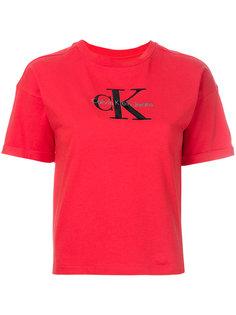 длинная футболка с принтом  Calvin Klein