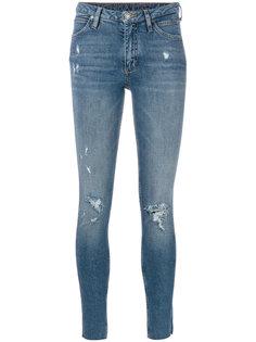 состаренные джинсы скинни  Calvin Klein