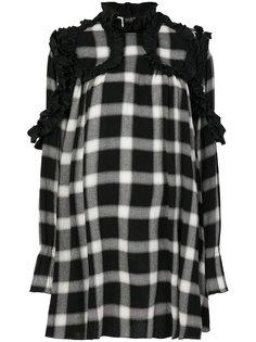 платье в клетку с оборками  IM Isola Marras