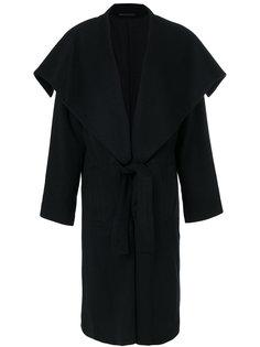 пальто с пышным воротом Yohji Yamamoto