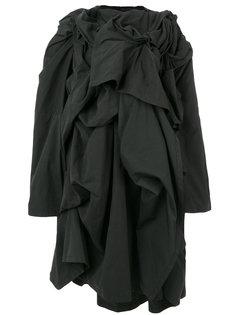 пальто с декоративными сборками Yohji Yamamoto