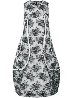 расклешенное платье с цветочным принтом Comme Des Garçons