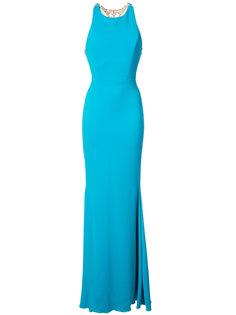 вечернее платье с украшенной спиной Marchesa Notte