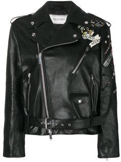 байкерская куртка с вышитыми татуировками Valentino
