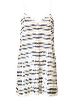расшитое пайетками полосатое платье Ashish