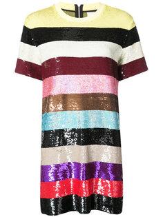 полосатое платье с пайетками Ashish