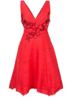 плиссированное коктейльное платье  Marchesa Notte