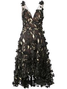 платье с цветочной вышивкой Marchesa Notte