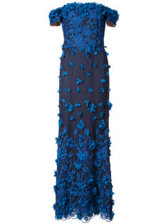 вечернее платье с вышивкой Marchesa Notte
