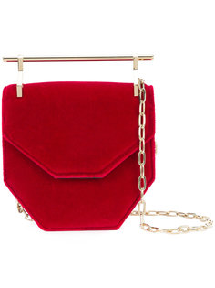 top-bar geometric shoulder bag M2malletier