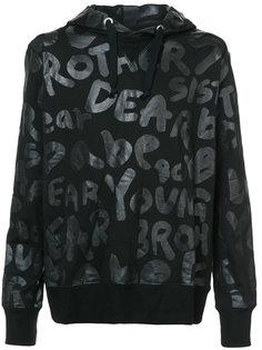 text print hoodie Junya Watanabe Comme Des Garçons Man