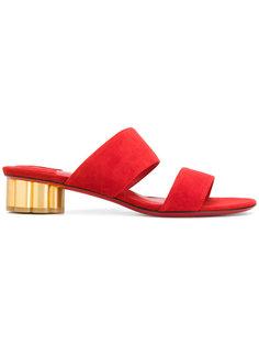 сандалии с резным каблуком в форме цветка Salvatore Ferragamo