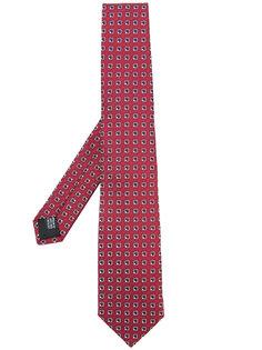 галстук с геометрическим принтом Cerruti 1881