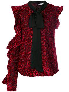 асимметричная блузка с бантом  Self-Portrait