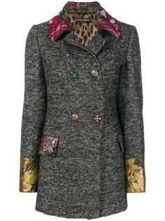 двубортная куртка с жаккардовой отделкой  Dolce & Gabbana