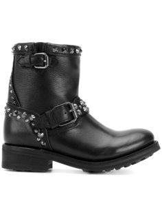 байкерские ботинки с заклепками Ash