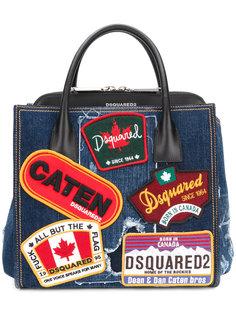 джинсовая сумка-тоут Deana с нашивками Dsquared2