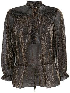 блузка со змеиным принтом  Just Cavalli