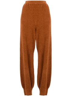 вельветовые брюки с присборенными штанинами  Boboutic
