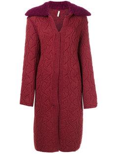 пальто-кардиган с открытыми швами  Boboutic