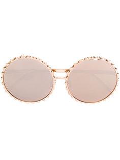 массивные круглые солнцезащитные очки Linda Farrow
