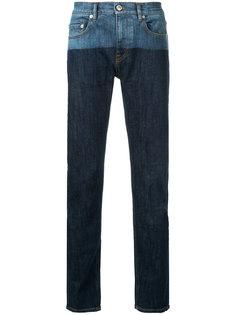прямые джинсы с контрастным дизайном Cerruti 1881