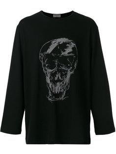 толстовка с принтом черепа Yohji Yamamoto