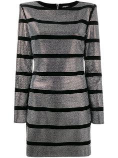 платье мини с отделкой стразами  Balmain