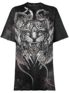 свободная футболка с принтом тигра  Balmain