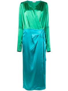 атласное платье с запахом  Attico