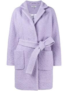 короткое фактурное пальто Fenn Ganni