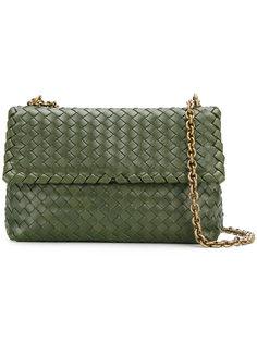 сумка с откидным клапаном с плетеным дизайном Bottega Veneta