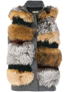 куртка-жилет с мехом кролика  S.W.O.R.D 6.6.44