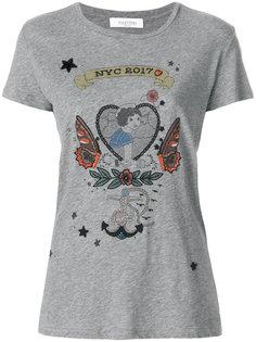 футболка с принтом татуировки Valentino